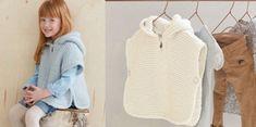 Free knitting: The white poncho, Poncho Knitting Patterns, Knitted Poncho, Knitting Designs, Free Knitting, Baby Knitting, Knitted Hats, Gilet Crochet, Tutu Rock, White Poncho