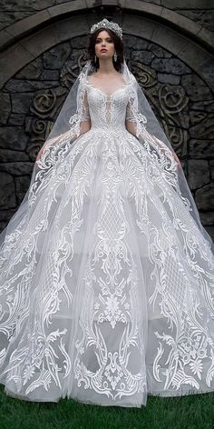 46 Ideas White Bridal Robe Ball Gowns For 2019 Stunning Wedding Dresses, Luxury Wedding Dress, Classic Wedding Dress, Princess Wedding Dresses, Perfect Wedding Dress, Dream Wedding Dresses, Wedding Attire, Weeding Dress, Bridal Robes