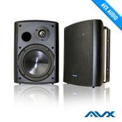 6 5 Outdoor Weatherproof Patio Speaker Pair Black Psp B1 By Avx Audio Wireless Outdoor Speakers Outdoor Speakers Surround Sound Systems