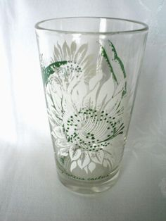 Boscul Night Blooming Cercus Cactus Peanut Butter Glass