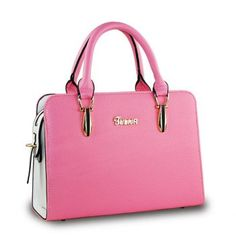 $28.95 Elegant Color Block and Metallic Design Women's Tote Bag