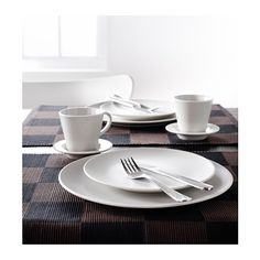 DINERA 18-piece dinnerware set, beige