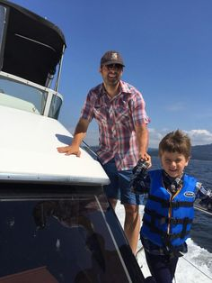Misha Collins ‏@mishacollins  At sea: me and my First Mate!