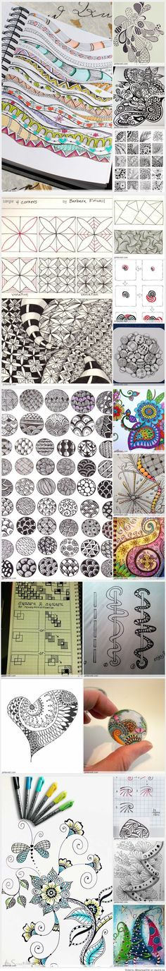 Zentangle - Zendoodle - Patterns #expressyourlife #eddingfrance