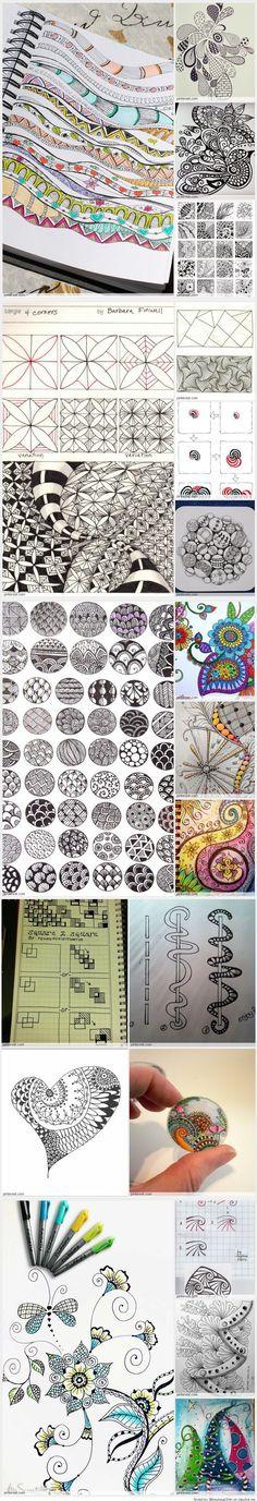 Zentangle - Zendoodle - Patterns #expressyourlife #eddingfrance