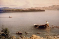 """Martin Johnson Meade (1819-1904), """"Lake George"""" - (""""Nature Illustrated: Landscapes and Still Lifes by Heade and His Contemporaries"""" from Museum of Fine Arts, Boston ~ Boston, Massachusetts, USA @ Vero Beach Museum of Art ~ Vero Beach, Florida, USA)"""