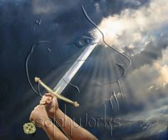 "Of The Spirit Using our prayers and fasting as a sword to rend the Heavens above us. ""Sword of the Spirit"" by Tamer ElsharouniUsing our prayers and fasting as a sword to rend the Heavens above us. ""Sword of the Spirit"" by Tamer Elsharouni"