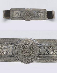Caucasus | Ottoman belt; silver, niello, leather | ca. 19th century | Est. 300 - 500£ ~ (June '10)