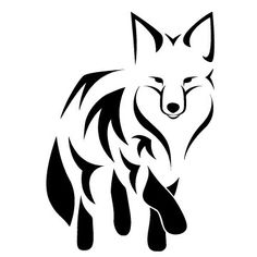 Like the tribal black and white style for my fox tattoo