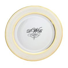 Iriana Personalized 10.25'' Porcelain Dinner Plate $58