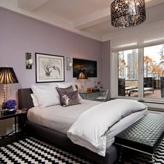 Are you looking for purple bedroom design concepts? Yup, as we already know, you can't never go wrong with purple. Pleased and regal, or soft and wonderful, the variety of purple tones is incomparable. Check out these purple bedroom ideas! Purple Bedroom Walls, Mauve Bedroom, Purple Bedroom Design, Best Bedroom Colors, Purple Bedrooms, Bedroom Paint Colors, Small Room Bedroom, Bedroom Ideas, Small Rooms