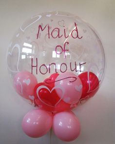Hope she said yes!!! #balloons #wedding #maidofhonour