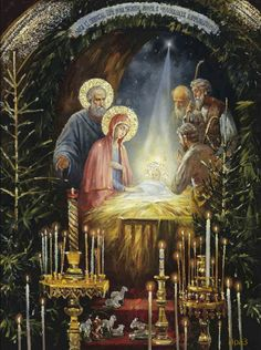 Nativity – Art and Faith Merry Christmas Gif, Christmas Scenes, Christmas Nativity, Vintage Christmas Cards, Christmas Pictures, Christmas Art, Christmas Greetings, Image Halloween, O Holy Night