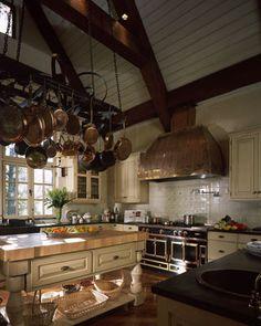 Take a look at that La Cornue. Huge Kitchen, Cozy Kitchen, La Cornue, Copper Pans, Oven Range, Extension Ideas, Dream Kitchens, Humble Abode, Home Look