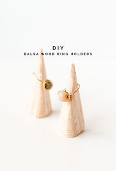 DIY Balsa Wood Ring Holders Tutorial