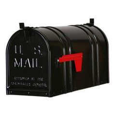 Post-mount Double Door Steel Mailbox In Black
