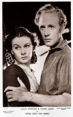 https://flic.kr/p/RuVaJq | Leslie Howard and Vivien Leigh in Gone with the Wind (1939) | British postcard in the Picturegoer Series, London, no. W. 346. Photo: David O'Selznick Production / Metro-Goldwyn-Mayer. Publicity still for Gone with the Wind  (Victor Fleming, 1939).  English stage and film actor, director, and producer Leslie Howard (1893-1943) is best-known for his role as Ashley Wilkes in Gone with the Wind (1939). Other popular films were The Scarlet Pimpernel (1934), The…