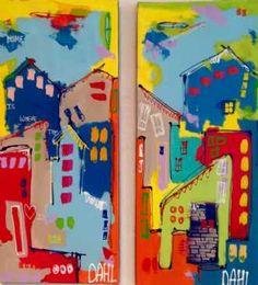 Kunstsamlingen | Artist: Smilla Daisy Dahl | Title: Home Is Where The Heart Is | Height: 70cm,  Width: 60cm | Find it at kunstsamlingen.com #kunstsamlingen #kunst #artcollection #art #painting #maleri #galleri #gallery #onlinegallery #onlinegalleri #kunstner #artist #danishartists #smilladaisydahl