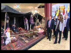 april 7, 2014, Queen Rania visits La Storia Museum in Madaba