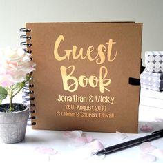 Personalisierte Hochzeit Gästebuch von GLDstationery auf Etsy