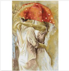 Cross Stitch Kit by Luca-S - Under Umbrella by ArtfulStitchings on Etsy