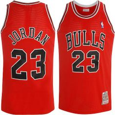 Red Michael Jordan Jersey Adidas Throwback S, M, L, XL, XXL, 3X