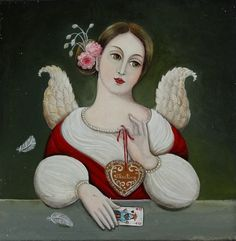Valentine / 30 cm x 30 cm - Marie Amalia Surreal Artwork, Tao Te Ching, Mark Ryden, Marion Peck, Disney Characters, Fictional Characters, Disney Princess, Angeles, Cards