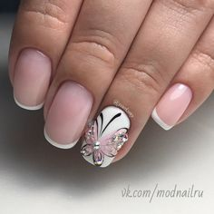 summer acrylic nails in 2020 Creative Nail Designs, Colorful Nail Designs, Creative Nails, Summer Acrylic Nails, Spring Nails, Nail Polish Designs, Nail Art Designs, Butterfly Nail Art, French Tip Nails
