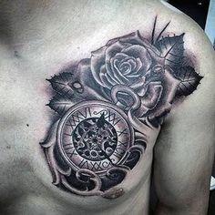 80 clock tattoo designs for men - timeless ink ideas Make Tattoo, I Tattoo, Disney Tattoos, Tattoo No Peito, Herren Hand Tattoos, Watch Tattoos, Clock Tattoos, Clock Tattoo Design, Hand Tattoos For Guys