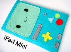 Felt iPad Mini Sleeve / Case - BMO Adventure Time. $28.00, via Etsy.