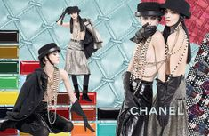 Chanel Fall/Winter 2016-2017 Ready-To-Wear Ad Campaign Photos. Photographed By: Karl Lagerfeld. Models: Mariacarla Boscono. Sarah Brannon.