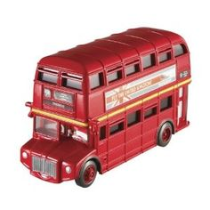 Disney Pixar Cars 2 Deluxe Vehicle Double Decker Bus