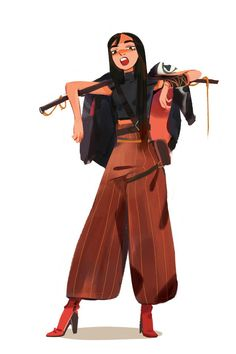Gangster modern samurai girl