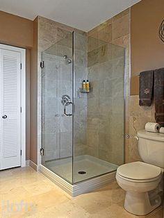 Bathroom Corner Showers beautifully remodeled bathroom in reston, va. #bathroom #shower