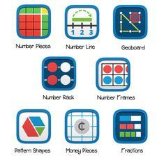 FREE Virtual Math Manipulatives for Chromebook and Computer Users - The Techie Teacher® Fun Math Games, Math Activities, Engage Ny, Eureka Math, Math Manipulatives, 5th Grade Math, Math Class, Third Grade, Math Notebooks