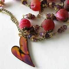 Gemstone Pendant Necklace Drusy Druzy by PacificJewelryDesign