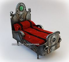 Steampunk Miniature Bed by diarmentcreations on Etsy, $49.15