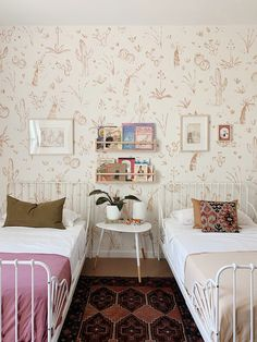 Scandinavian interior design inspiration, including Scandinavian bedroom ideas, Scandinavian living room ideas, and the best new products and design. Room Wallpaper Designs, Kids Room Wallpaper, Inspiration For Kids, Room Inspiration, Design Inspiration, Girls Bedroom, Bedroom Decor, Bedrooms, Bedroom Eyes