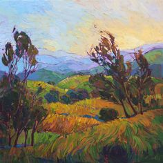 "Saatchi Art Artist Erin Hanson; Painting, ""Layers in the Hills - SOLD"" #art"