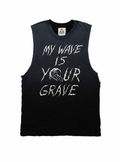 36e78287 Let's Stay Strangers faded black tank / muscle tee by UNIF Clothing