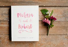 Watercolor Wedding Guest Book Pink Guest Book Wedding Guestbook Custom Guest Book wedding gift keepsake blush pink unique wedding reception