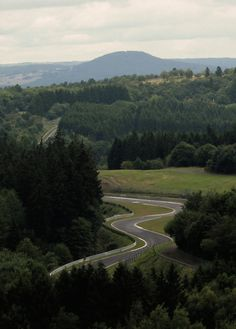 "nurburgring View on ""Hatzenbach"" and the ""Quiddelbacher Höhe"""