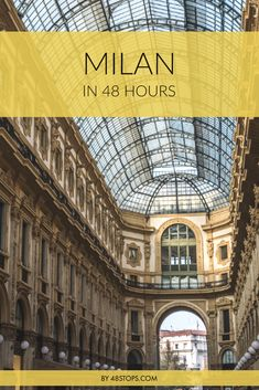 A 48 hours itinerary on things to do in fashion capital Milan. Find out about the perfect walks to discover the beautiful architecture and top monuments in this practical travel guide!