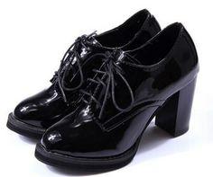 Amazon.com | Susanny <b>Women's</b> Vintage Patent Leather Lace Up ...