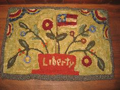 Hooked by my best friend JulieFloral Hooked Rugs Description