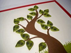 Do All Sorts of Fun with Paper Quilling and Quilling Art Trees? Art Quilling, Quilling Patterns, Olive Green Color, Shadow Box Frames, Art Google, Creative Art, Paper Art, The Help, Origami