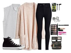 """""""I wasn't expecting that"""" by kabylou ❤ liked on Polyvore featuring Monki, Rodarte, Converse, Polaroid, MAC Cosmetics, Lancôme, Master & Dynamic and Pieces"""