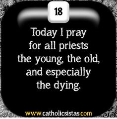 Please pray for our priests!