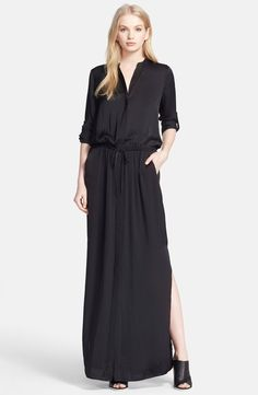 Black Silk | Vince Silk Maxi Dress