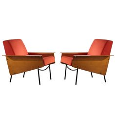 Pair of G10 Lounge Chairs by Pierre Guariche for Airborne c1954